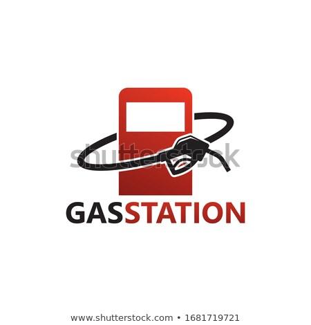 Carro serviço estação design de logotipo negócio estrada Foto stock © djdarkflower