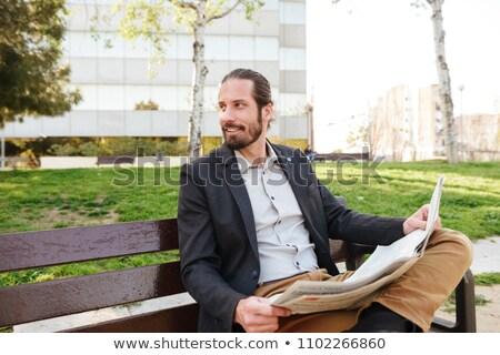 画像 満足した 魅力的な 男 30歳代 スーツ ストックフォト © deandrobot