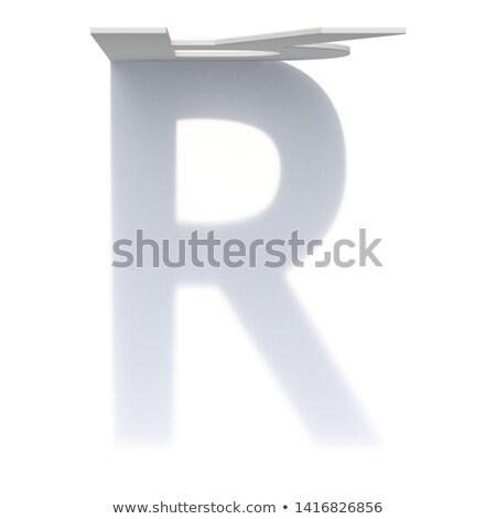Verticaal drop schaduw doopvont letter r 3D Stockfoto © djmilic