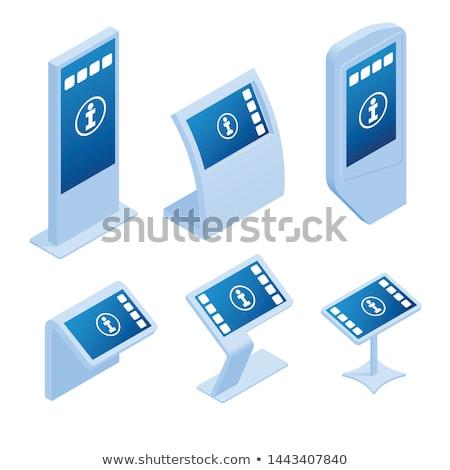 Vetor isométrica shopping varejo unidade caixa registradora Foto stock © tele52