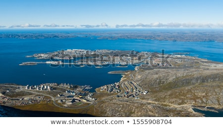 Greenlands capital Nuuk - largest city in Greenland aerial view Stock photo © Maridav