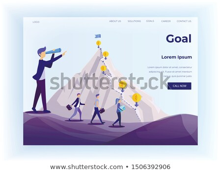 Achieving Career Goals Website, Leadership Vector Stock photo © robuart
