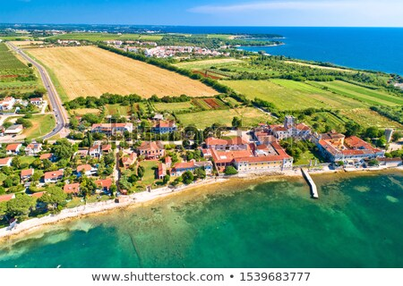 Stock photo: Dajla abandoned convent by the sea view