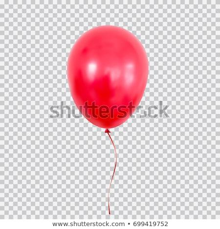 piros · hélium · léggömb · születésnap · repülés · buli - stock fotó © Fosin