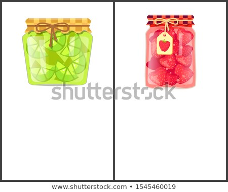 lime or lemon home cooked jam or marmalade in jar stock photo © robuart
