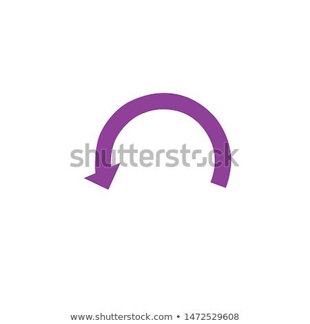 サークル · 矢印 · 戻る · 回転 · 孤立した · 白 - ストックフォト © kyryloff