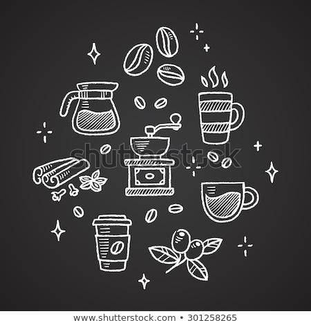 café · café · da · manhã · ícones · colorido · bege - foto stock © cidepix