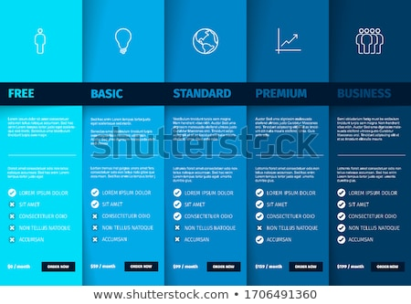 products versions feature and price list table zdjęcia stock © orson