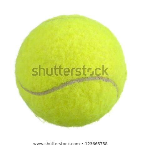 teniszlabda · kivágás · izolált · fehér · háttér · sportok - stock fotó © DragonEye