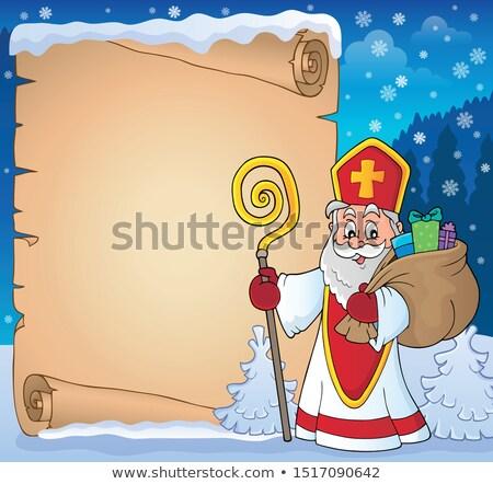 святой тема пергаменте бумаги крест искусства Сток-фото © clairev