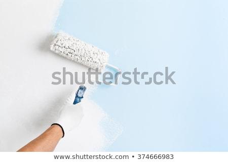 интерьер рабочих художника стороны белый перчатка Сток-фото © Freedomz