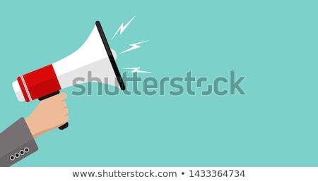 Głośnik ikona wektora odizolowany biały Zdjęcia stock © smoki