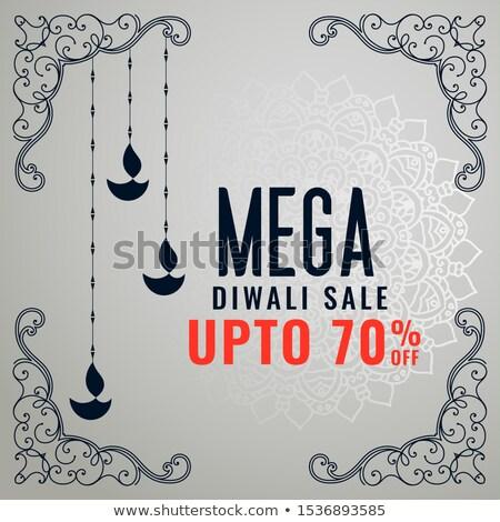 mega diwali sale template design with decorative elements stock photo © sarts