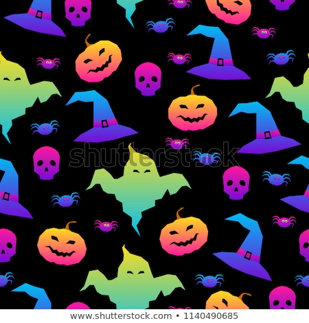 Happy Halloween Seamless Pattern. Scary and horror background Stock photo © barsrsind