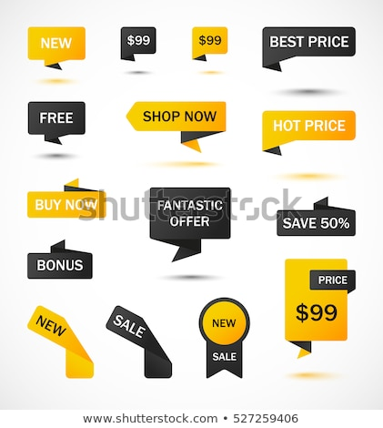 Hot Prices Promotional Banner with Client Vector Stock photo © robuart