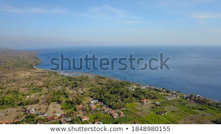 Beira-mar ver vulcão Indonésia bali nuvens Foto stock © boggy