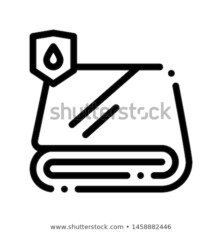 Waterproof Material Fabric Towel Vector Line Icon Stock photo © pikepicture