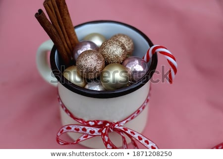 Red Bag Filled with Candies for Xmas Holidays Stock photo © robuart