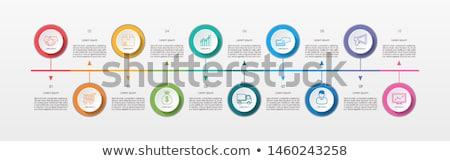 タイムライン テンプレート サークル ボタン ベクトル インフォグラフィック ストックフォト © orson