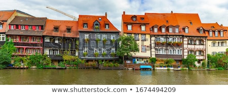 Bamberg city in Germany. River in foreground Stock photo © kyolshin