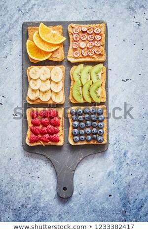 Brood pindakaas vruchten Stockfoto © dash