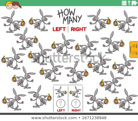 counting left and right pictures of Easter Bunny Stock photo © izakowski