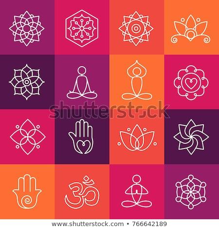 yoga icons with chakras   Stock photo © Olena