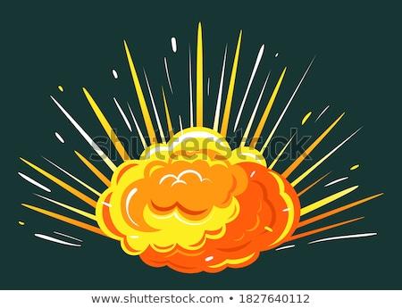 Groot explosie heldere knal oranje wolk Stockfoto © robuart