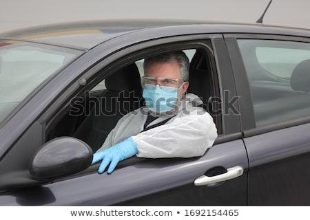 Protegido conductor coche tela gafas Foto stock © simazoran