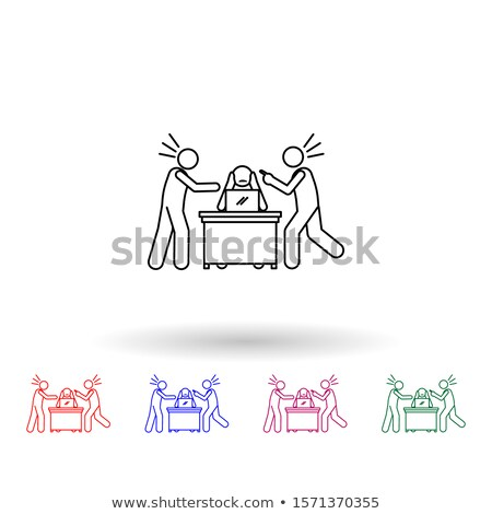 reprimand man icon vector outline illustration Stock photo © pikepicture