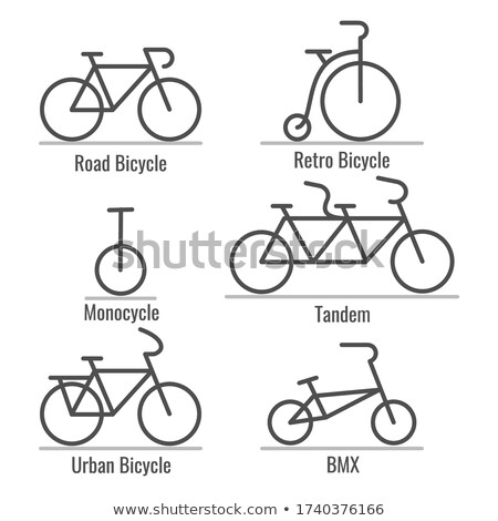 Different types of bicycles set Stock photo © jossdiim