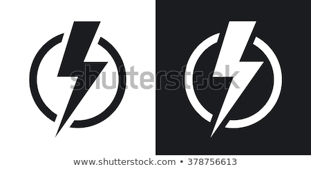 Elem elektromosság szimbólum egyszerű fekete ikon Stock fotó © evgeny89