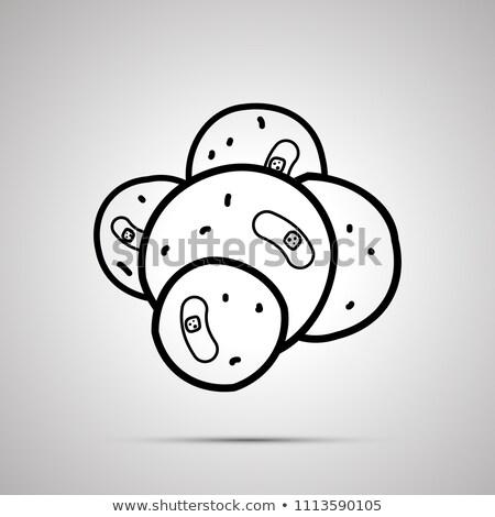 Kanser hücre çekirdek basit siyah ikon Stok fotoğraf © evgeny89