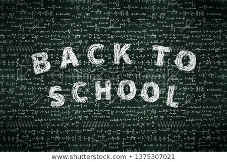Fundamenteel math formules terug naar school witte Stockfoto © evgeny89