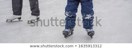 молодые матери преподавания мало сын катание на коньках Сток-фото © galitskaya
