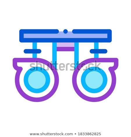 molds for storing lenses icon vector outline illustration Stock photo © pikepicture