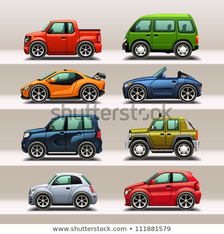 Car Models Jeep and Mini Automobile Vehicles Set Stock photo © robuart