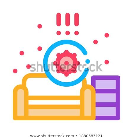 Identificação sanitário problemas sala de estar ícone vetor Foto stock © pikepicture