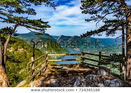 湖 川 表示 山 セルビア 空 ストックフォト © boggy
