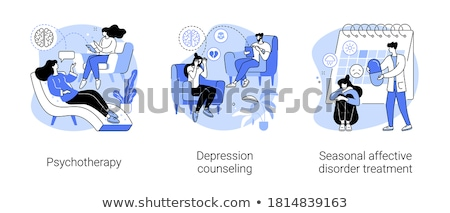 Depression counseling abstract concept vector illustration. Stock photo © RAStudio