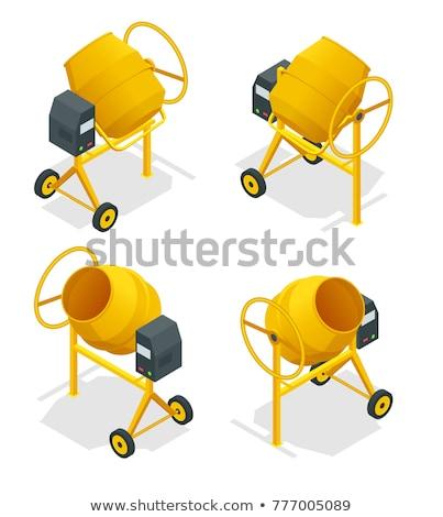 Stock fotó: Cement Mixer Isometric Icon Vector Illustration