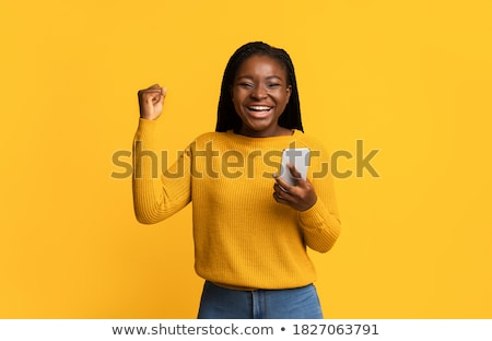 African beautiful woman with braids. Stock photo © lubavnel