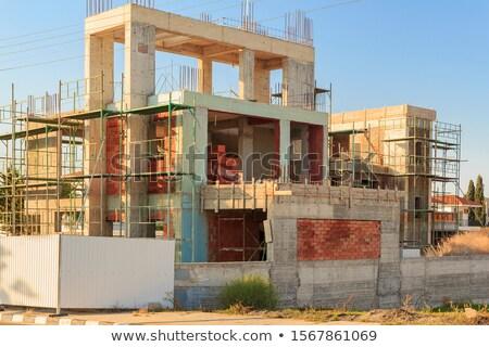 Tres edad verde Windows típico casa de playa Foto stock © iko