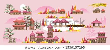kilátás · kínai · kert · tavacska · sokszínű · ponty - stock fotó © leungchopan
