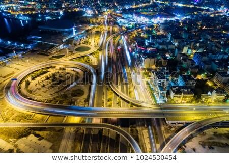 Афины шоссе знак зеленый облаке улице знак Сток-фото © kbuntu