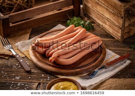 salsicha · carne · branco · objetos · cortar - foto stock © pavel_bayshev