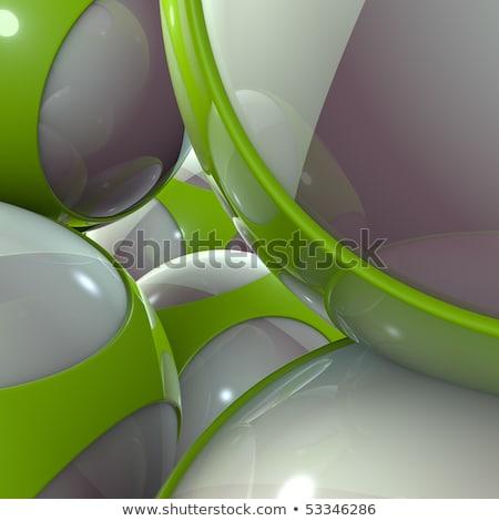 Schließen Ansicht 3D grünen fremden Techno Stock foto © Melvin07