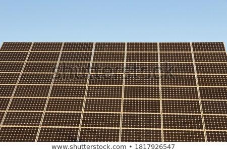 Azul energía solar placa detalle verde eléctrica Foto stock © lunamarina