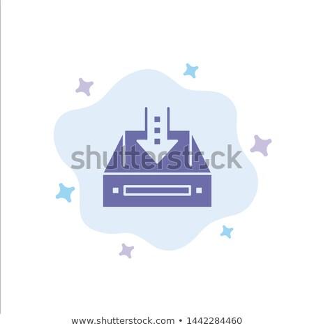 Résumé boîte de réception icône bois mail lettre Photo stock © pathakdesigner