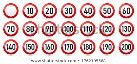 Speed limit road sign Stock photo © duoduo